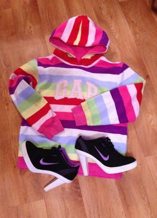 Кофта свитер толстовка gap с капюшоном реглан худи