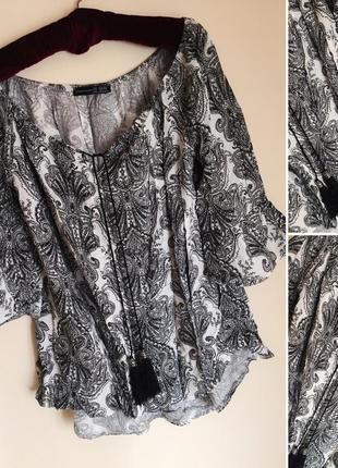 Блуза принт 100% вискоза