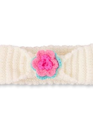 Вязаная повязка, размер универсальный от рождения до 3-4 лет