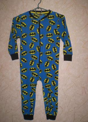 Флисовый человечек ромпер слип пижама 4-5 летт 104-110 см