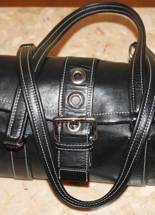 Элегантная сумка 100% кожа бренда giudit, италия оригинал 17на 30 см