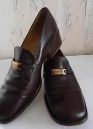 Обалденные кожаные туфли marc o'polo (италия), р.40