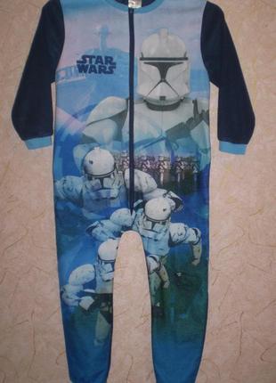 Флисовый человечек ромпер слип пижама 5-6 лет 110-116 см