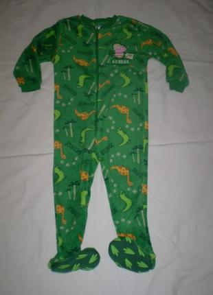 Очень теплый махровый человечек слип пижама 2-3 г., 92-98 см