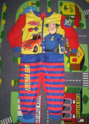 Флисовый человечек ромпер слип пижама george 2-3 г. ,92-98 см