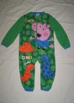 Флисовый человечек ромпер слип пижама peppa pig 18-23 мес