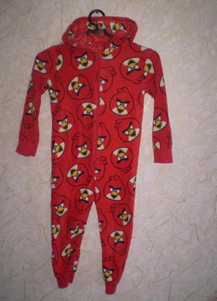 Флисовый человечек ромпер слип пижама 4-5лет 104-110 см