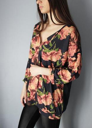 Блуза next в цветы вискоза