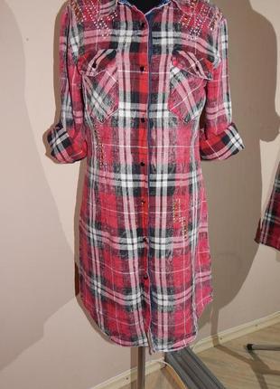 Классная рубашка-платье