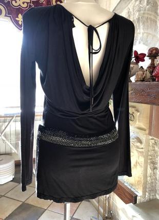 Черное короткое платье, туника richmond / оригинал италия3