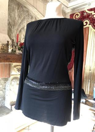 Черное короткое платье, туника richmond / оригинал италия