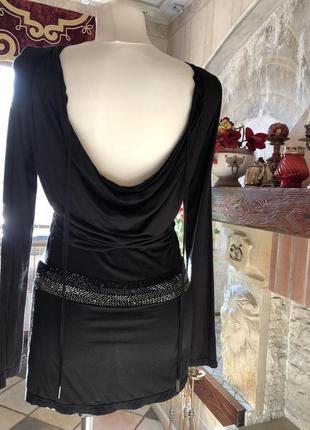 Черное короткое платье, туника richmond / оригинал италия4