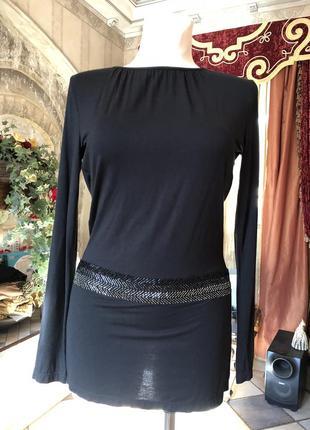 Черное короткое платье, туника richmond / оригинал италия2