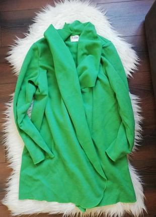 Кардиган кофта пальто изумрудного цвета