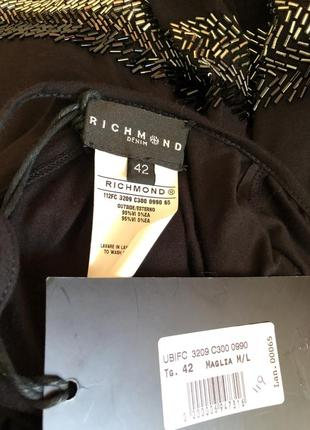 Черное короткое платье, туника richmond / оригинал италия5