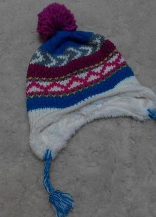 Яркая зимняя шапка mountain warehouse kids one size
