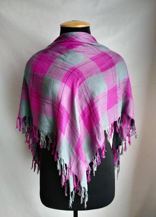 Вискозный шарф платок в клетку