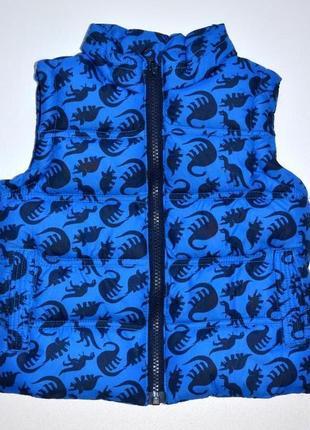 Классная жилетка с динозаврами на синтапоне rebel размер: 18-24 мес.1 фото