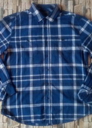 Мужская рубашка  в клетку debenhams размер l-наш 50й размер