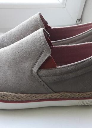 Ботинки мокасины натуральный замш большой размер на широкую ногу