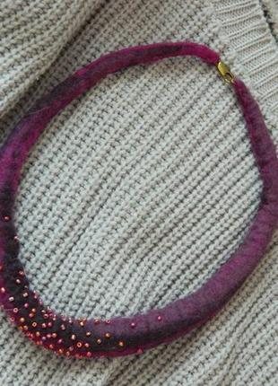 Ожерелье чокер украшение валяное ручная работа!заходите в профиль!4