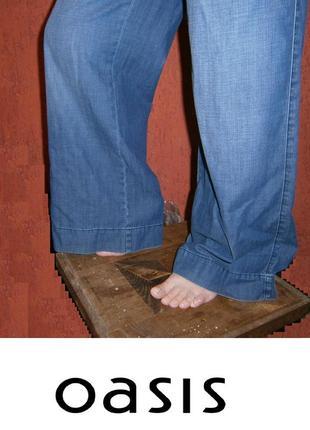 Классные кюлоты широкие брюки джинсы  хлопок высокая посадка размер 40 / 12 / l