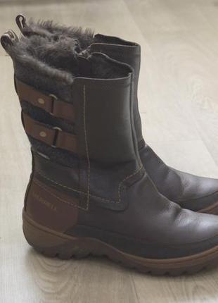 Женские ботинки merrell коричневые оригинал зима