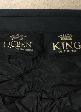 Постельное белье  с принтом king and queen black