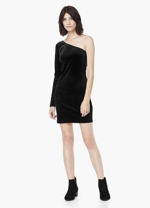 Вельветовое платье new look на одно плече⭐️