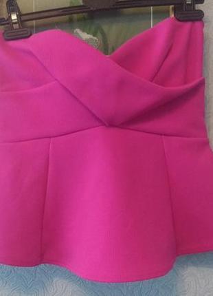 Топ бюстье розовый неон