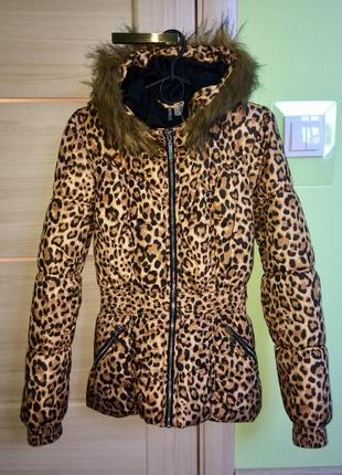 Фирменная демисезонная леопардовая куртка