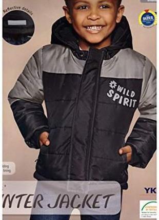 Зимняя термокуртка для мальчика lupilu германия размеры 2-3 лет