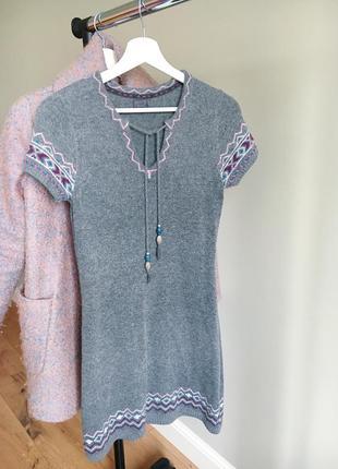 Теплое платье-туника esprit 20% шерсти в составе