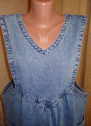 Джинсовое платье сарафан для беременных mami&baby состояние отличное р. 48-50