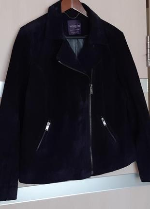 Натуральная замшевая куртка косуха mango