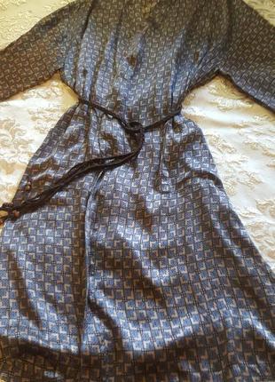 """Шикарнейший  халат из 100% натурального китайского  шелка  """" reckless"""" ."""