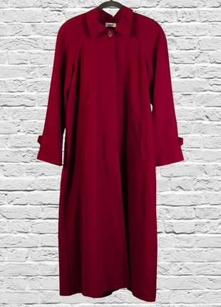 Крутой тренч бордовый, длинное пальто