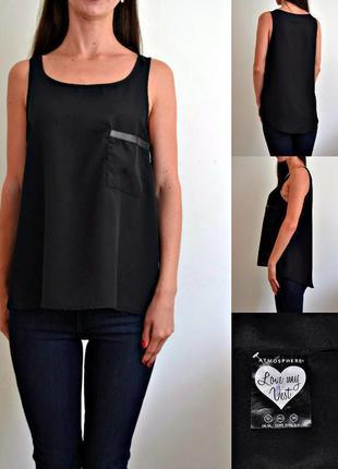 Базовая блуза с кармашком на груди atmosphere