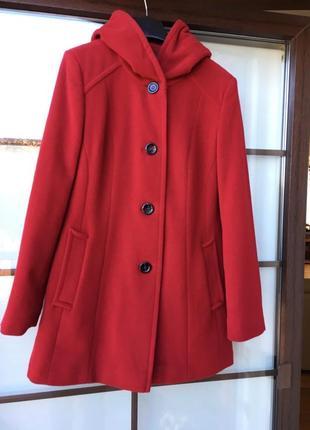 Шерстяное пальто с кашемиром