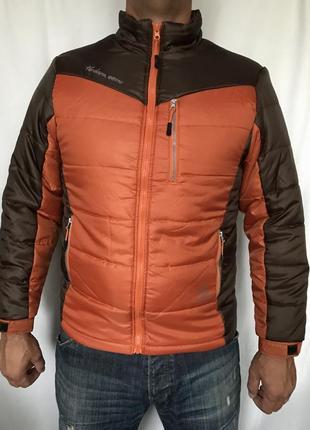 Куртка оранжево-коричневая теплая