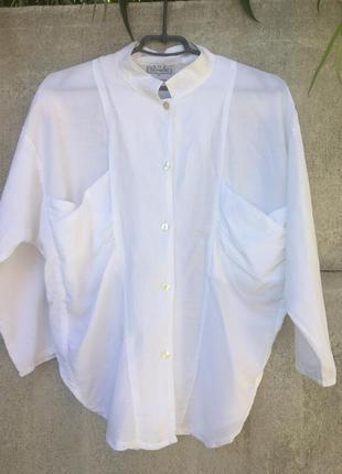 Обьемная рубашка с большими накладными карманами