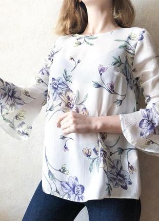 Блуза с цветами f&f