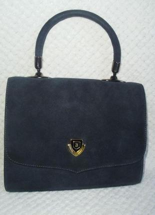 Bally vintage (italy) замшевая сумка