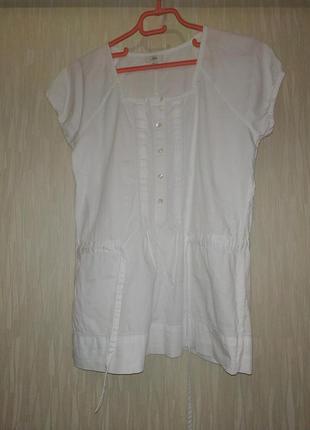Блуза блузка белая котон