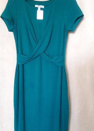 Миди платье изумрудное осеннее теплое зеленое мини zara