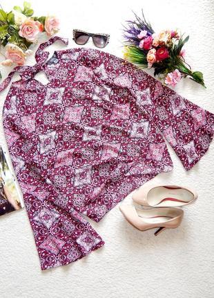 Оригинальная блуза primark в бохо стиле с расклешенными рукавами