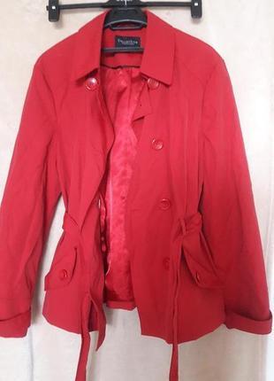 Debenhams коттоновый плащ тренч красный бордовый пальто оригинал