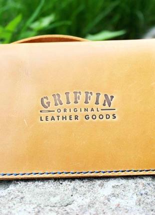 Кожаный кошелек ручной работы от griffin goods