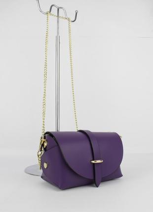 Кожаная мини-сумочка borse in pelle 323901-5 фиолетовая c7135af60cb8c