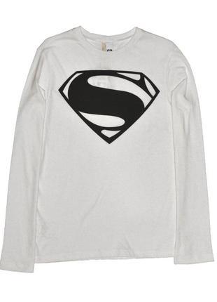Новый белый лонгслив супермен для мальчика, united colors of benetton, 01364